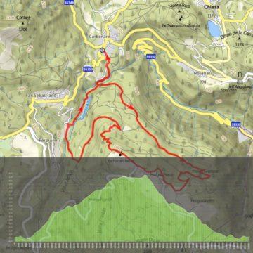 Difficoltà: Impegnativo | Durata: 2 ore | Lunghezza: 12,5 km | Altitudine massima: 1441 m | Dislivello in salita: 631 m | Dislivello di discesa: 629 m | Lunghezza per E-Bike: Breve | Percorso ad anello